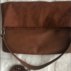 H&M brown leather crossbody bag